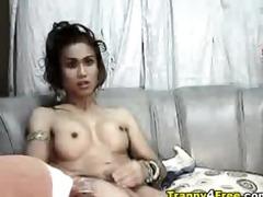 shelady in g-string masturbating