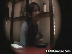 glamorous brunette oriental honey acquires