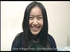 oriental schoolgirl receives her love tunnel