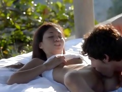 constricted oriental and outdoor fuck