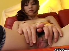 skinny oriental sweetheart in underware toys her