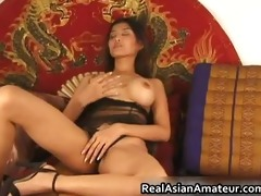 big breasts oriental stunner dildoing hirsute
