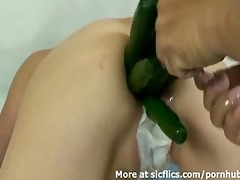 biggest anal vegetable insertions