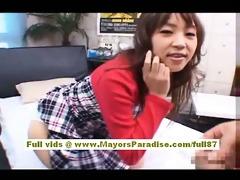 japanese av model goes for a dick ride