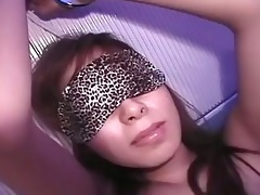 cute oriental playgirl blindfolded and...