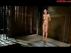 oriental angel disciplined as serf bondaged