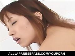 wild foot job after a cute av model has her