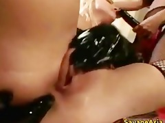 blond doxy receives gazoo screwed with sextoy