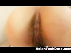 cum inside japanese youthful fur pie