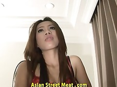 mouth screwed lycra clad asian toy