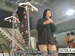 subtitled japanese group of amateurs nudist