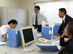 oriental secretary from tokyo with bum milk