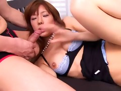 horny chaps play with cute serina hayakawa