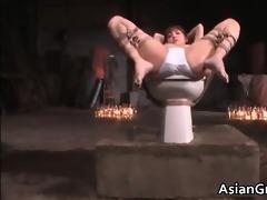 cute oriental playgirl in thraldom sex acquires