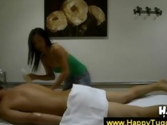 asian sweetheart gives a massage