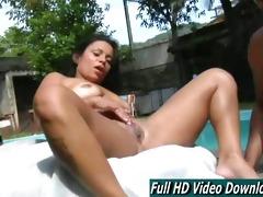 diana lins bigass bikini masturbation outside pool