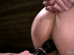 bound against a post breasty oriental playgirl