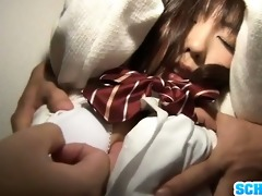 fastened chika arimura fingered to a strong orgasm