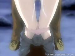 manga girl likes to fuck at night outdoors