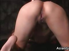 cute oriental hottie in servitude sex acquires
