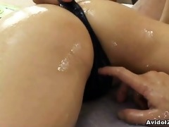 bewitching japanese babe double oral job and sexy