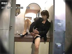 korean tgirl rubs one out beneath protest