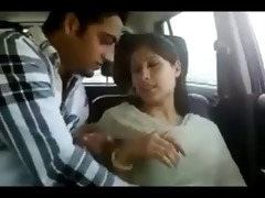 northindian youthful couples enjoyed in car part-i