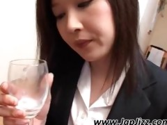 immodest oriental bitch gives bj and drinks cum