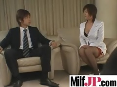 naughty japanese milfs receive team-fucked hard