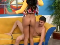 asian arabian loona luxor footjob on a large
