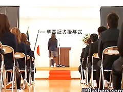 japanese chick during graduation part10