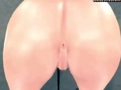 lustful oriental animated hotty licking a large