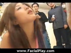 oriental hot sweethearts facial jizz flow fuck -