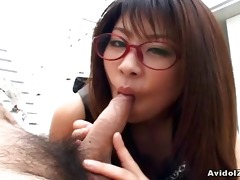 japanese mimi kousaka gives a consummate blowjob