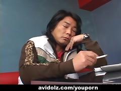 sexy waitress maria ozawa blows a ramrod