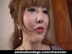 coarse oriental mistress ploughs her lovely