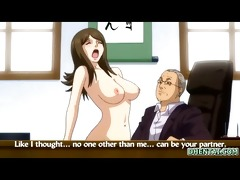 breasty japanese anime hawt riding her boss rod