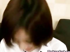 japanese oriental schoolgirl bumpers squeezed