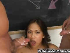 lewd oriental takes wang in her face hole part10