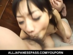 asian cougar gets face drilled unfathomable and