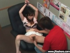 oriental whore girl get screwed after flash body