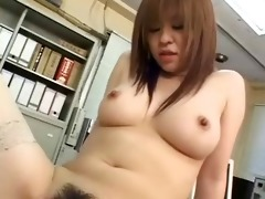 shapely japanese cutie receives biggest cumshots