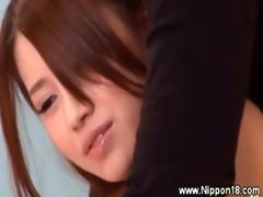 oriental perverted schoolgirl gets oral pleasure