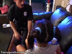 babysitter call police and is given a cavity