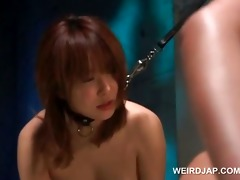 chained oriental sex prisoners snatch nailed
