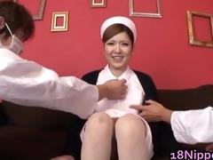 sexy legal age teenager oriental nurse enjoys