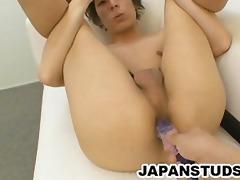 shigeru yamaoka - smooth asian lad jerking off