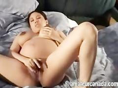 preggy dilettante oriental kammy masturbating