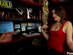 hawt oriental girl angelina visits pawn shop and