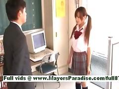 rio fujisakiamateur oriental angel at work on the